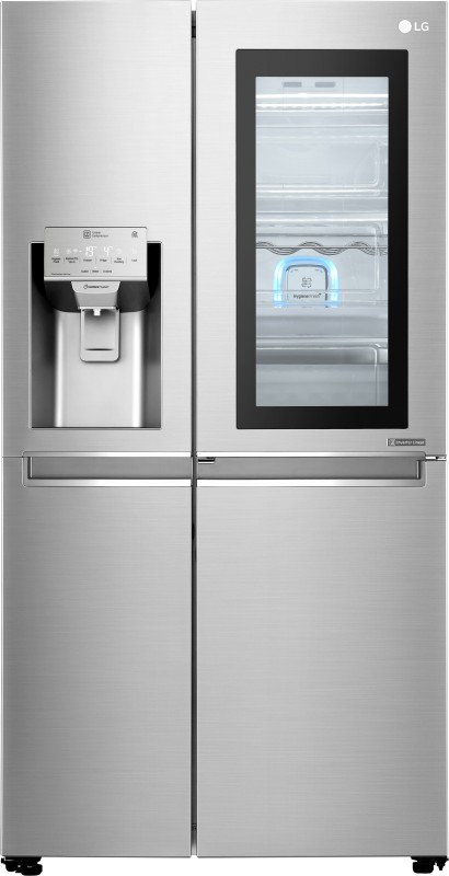 LG 668 L Frost Free Side by Side Refrigerator(Noble Steel, GC-X247CSAV)