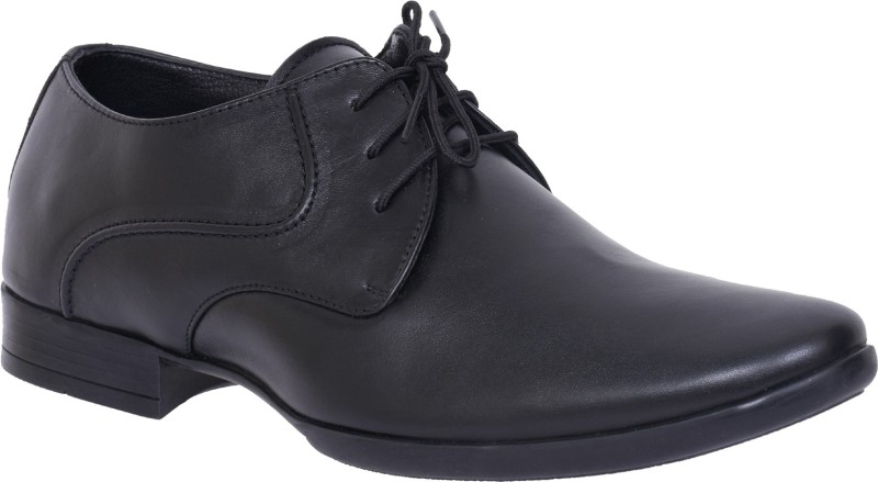 Egoss S-56-LEATHER-SILKY Lace Up For Men(Black)