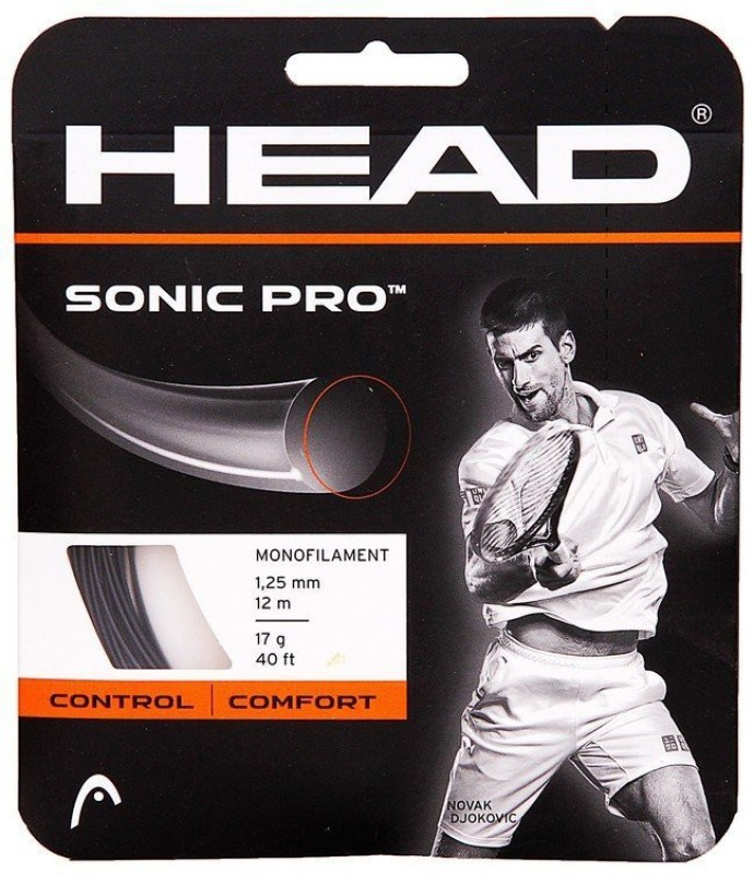 Head Sonic Pro 1.25 mm Tennis String - 12 m(Black)