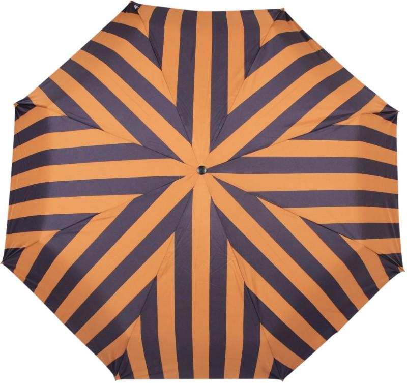 Johns 3 Fold Aoc Wooden Broad and Stripes-1 Umbrella(Yellow)