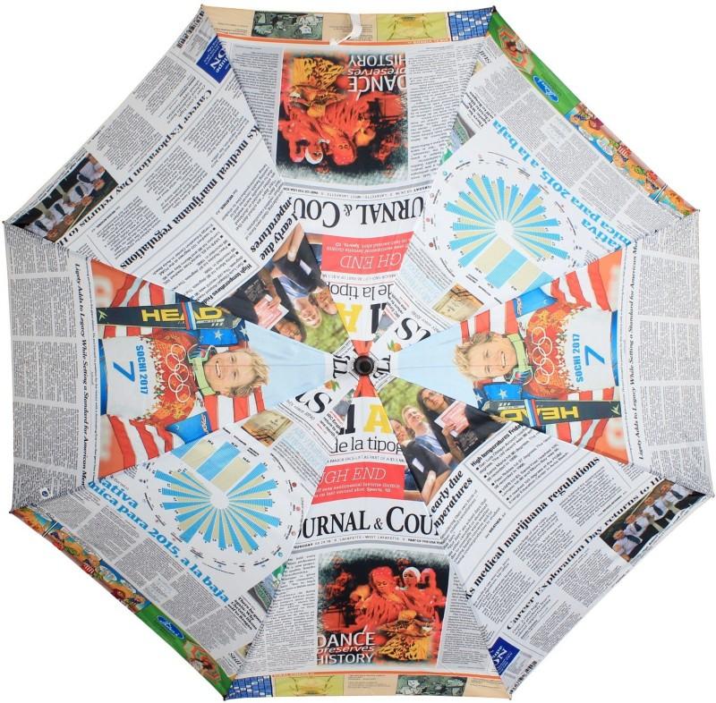 Johns Uncle Newsprint-4 Umbrella(Multicolor)