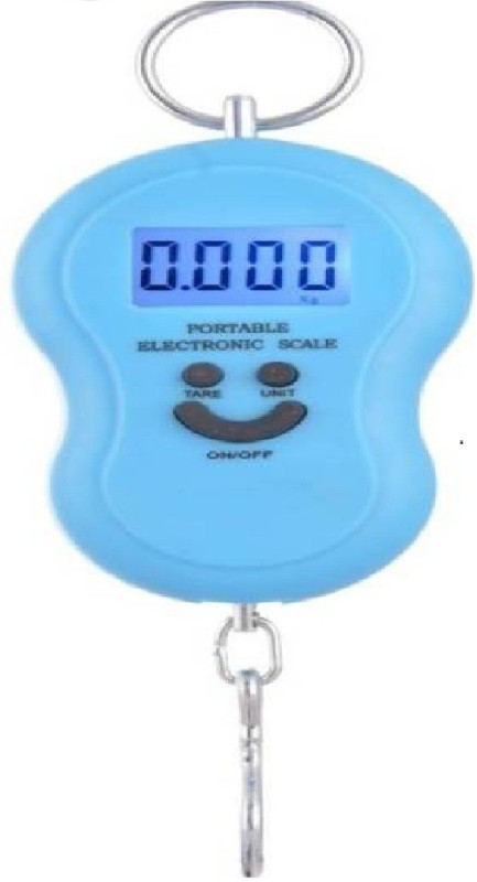 Sadarbazaarsales.Com Mini Portable 50kg-Digital Kitchen/Luggage Hanging LED Smiley (Blue) Weighing Scale(Blue)