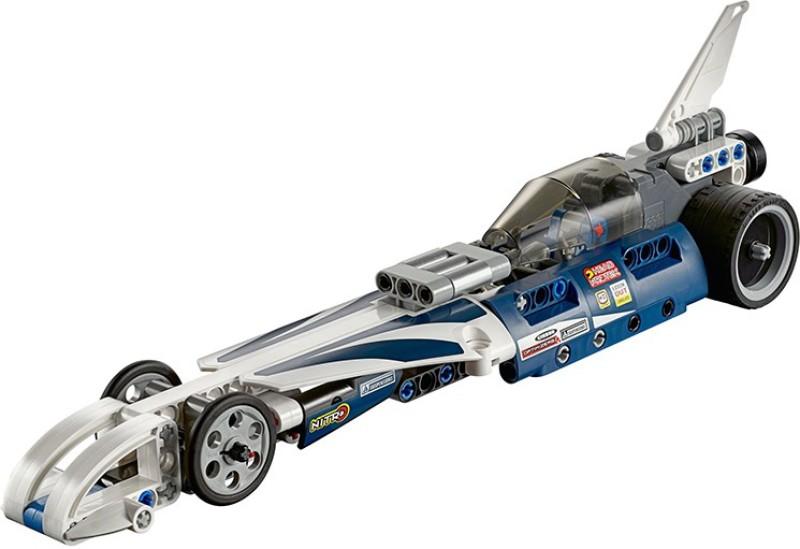Akrobo Decool Record Breaker Racer Car 3415 Technic Building Blocks Pullback Car Bricks Toys(Orange)