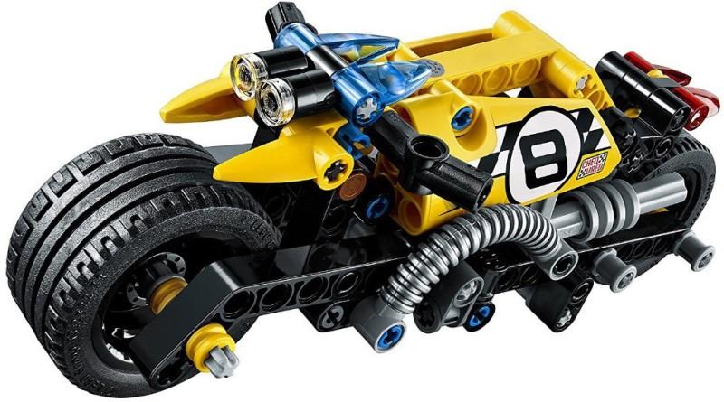 Akrobo Decool 140 pcs Stunt Bike 3419 Technic Building Blocks Pullback Car Bricks Toys(Orange)