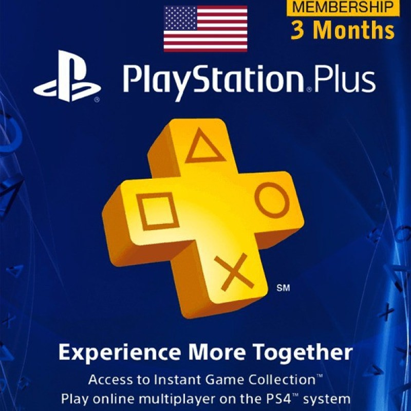 Playstation Plus 3 Months Subscription Service Exclusive Edition with Expansion Pack Only(Code in the Box - for PS4)