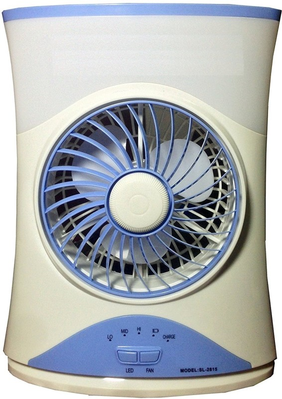 Mezire 4 7 High Speed Rechargeable 3 Blade Table Fan With Light (Blue) 3 Blade Table Fan(Blue)
