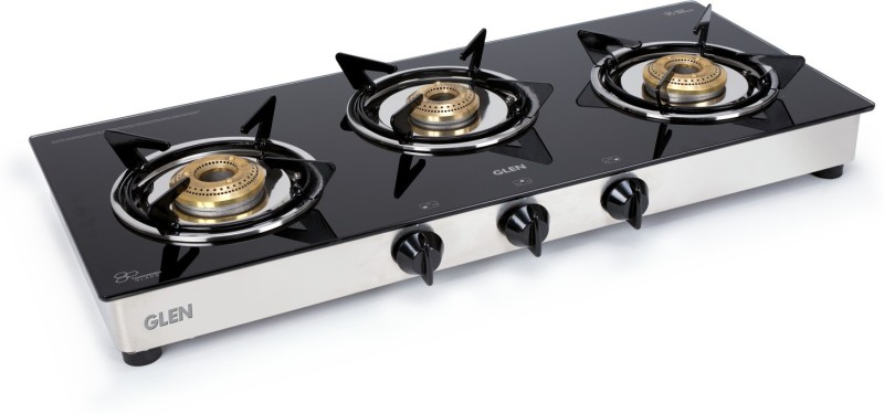 GLEN Glass Manual Gas Stove(3 Burners)