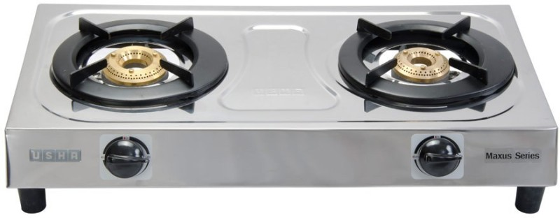 usha Maxus GS2 001 Stainless Steel Manual Gas Stove(2 Burners)