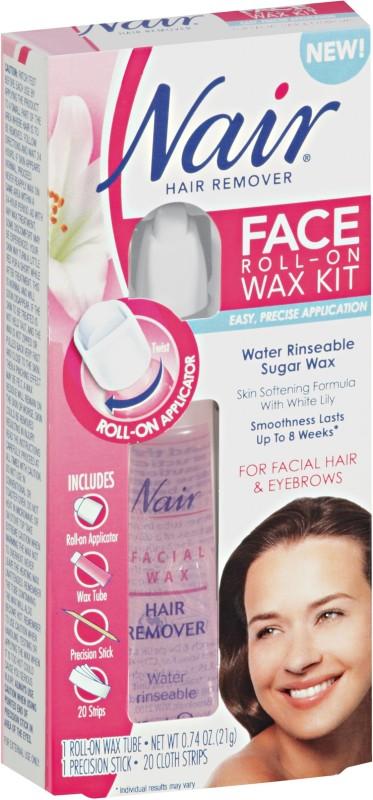 Nair Hair Remover, Face, Roll-On Wax Kit 1 kit Wax(21 g)