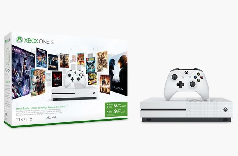 Microsoft Xbox One s 1TB Game Pass Bundle (White) With Steep & Forza Motorsport 6 (DLC) Handheld Gaming Console(White)