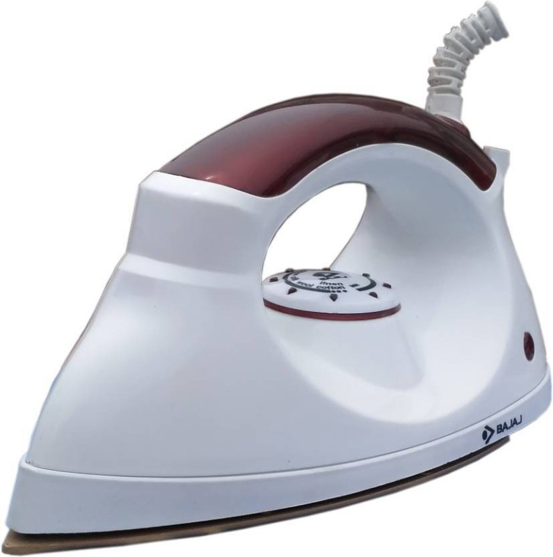 Bajaj Esteela Light Weight Dry Iron(White / Maroon)