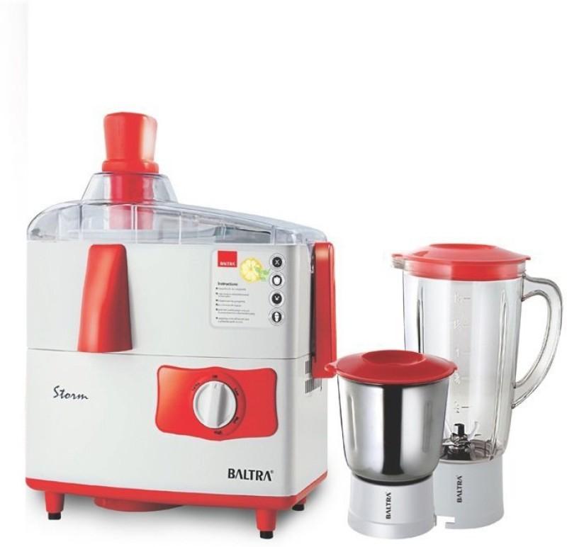 baltra BJMG101 500 Juicer Mixer Grinder(White, 2 Jars)