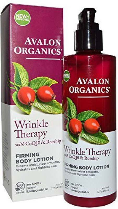 Avalon Organics Wrinkle Therapy With Coq & Rose Hip Firming Body Lotion(236.59 ml)