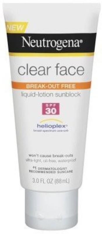 Neutrogena Clear Face Sunblock Lotion(88.73 ml)
