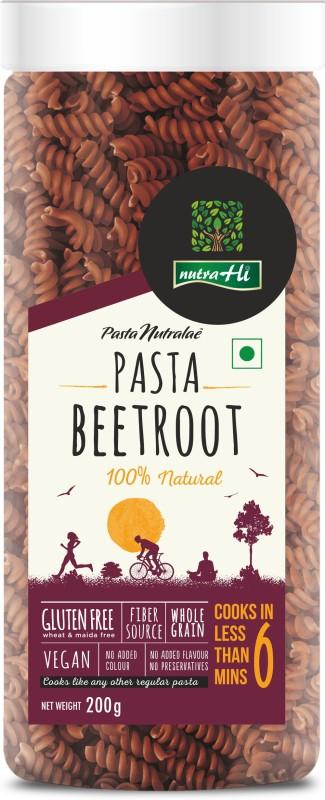NutraHi Beetroot Gluten free Pasta 200g By NutrHi Fusilli Pasta(200 g)