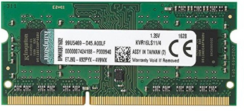 Kingston RAM DDR3 4 GB Laptop (1600MHz DDR3L Laptop - KVR16LS11/4)