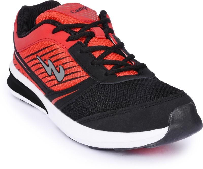 Campus Campus Volt Blk/Rst Running Shoes For Men(Black, Maroon)