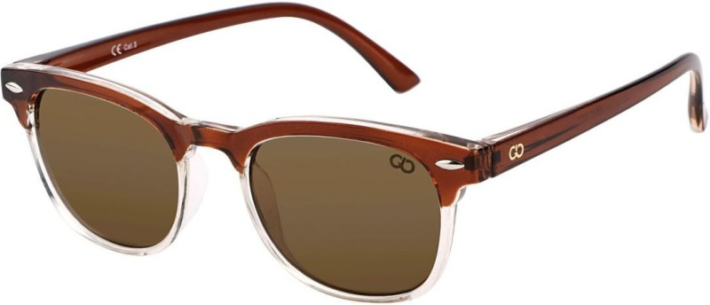 Gio Collection Over-sized Sunglasses(Brown) image