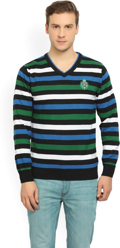 Fort Collins Full Sleeve Striped Mens Sweatshirt