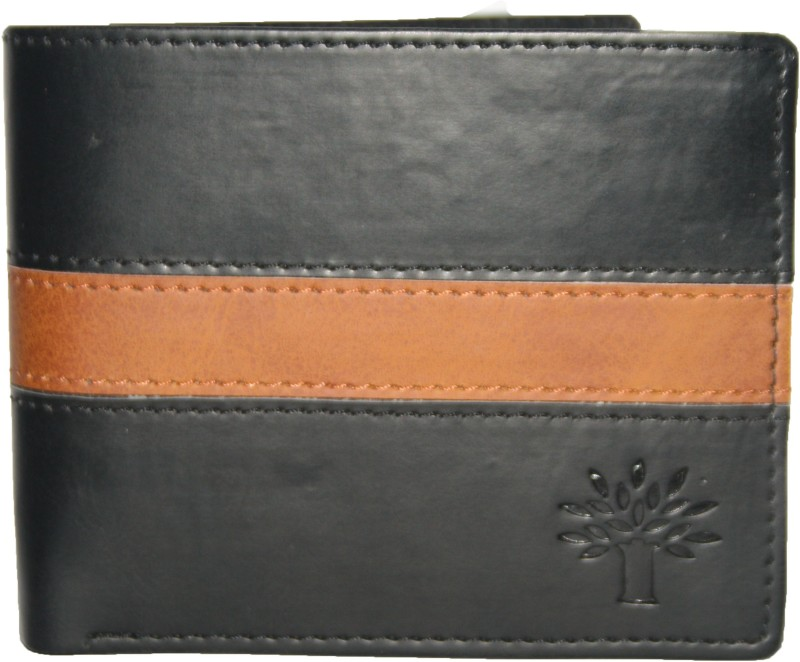 woodland1 Men Black Artificial Leather Wallet(8 Card Slots)