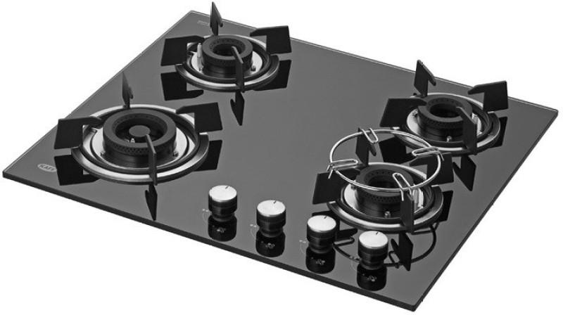 kaff Glass Automatic Gas Stove(4 Burners)