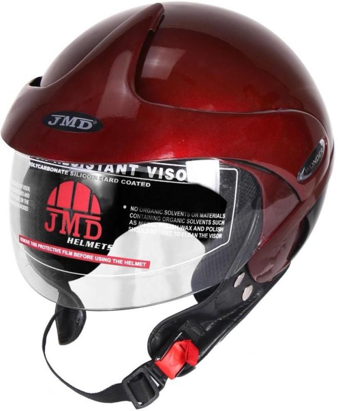 JMD Wonder Motorbike Helmet(Glossy Wine Red)