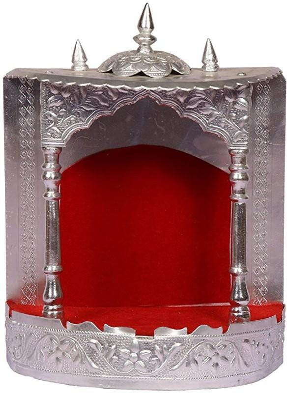 SRI LALIT ARTS MANDIR WALL NO.3 Pooja Mandir for Home, Home Temple, Handcrafted Wooden Mandir With Aluminium Aluminium Home Temple(Height: 23.5 cm)