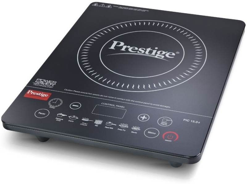 prestige PIC 15 + Induction Cooktop(Black, Touch Panel)