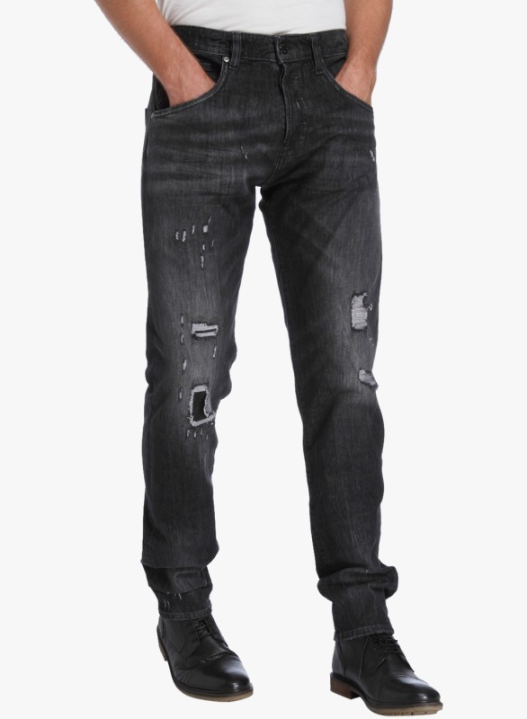 Jack & Jones Regular Mens Black Jeans