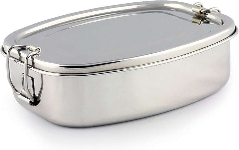 Kuber Industries Stainless Steel Rectangular Shape Lunch Box | School Lunch Box Set of 1 Pc Code-STLN11 1 Containers Lunch Box(500 ml)