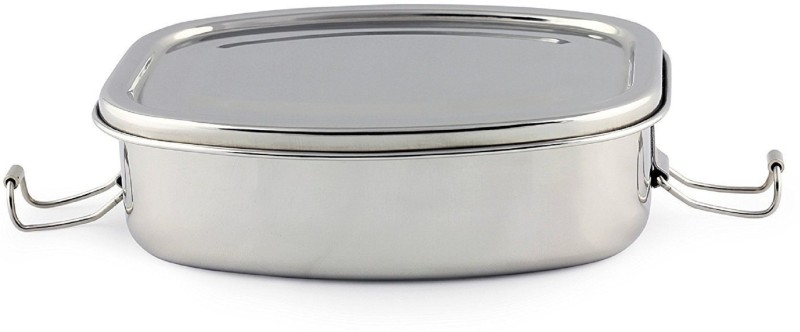 Kuber Industries Stainless Steel Rectangular Shape Lunch Box | School Lunch Box Set of 1 Pc Code-STLN09 1 Containers Lunch Box(500 ml)