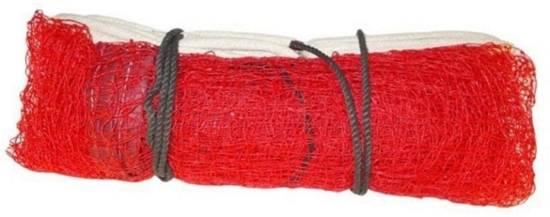 VENOM Red Badminton Net (SIZE : 21 x 2.5) with Cotton Border, Single Piece Badminton Net(Red)