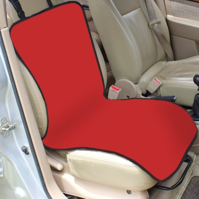 House of Quirk Pet/Dog Single Car Seat Protection Cover Bench Pet Seat Cover(Red Waterproof)