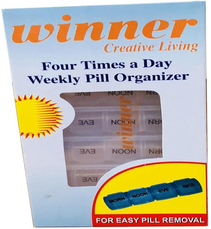 Winner VP20180501 Manual 4 Weeks for 7 days Pill Organizer(White, Blue)