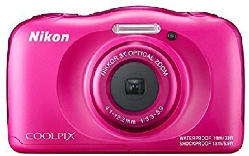 Nikon Coolpix W100 Point and Shoot Camera(13 MP, 3x Optical Zoom, 4x Digital Zoom, Pink)