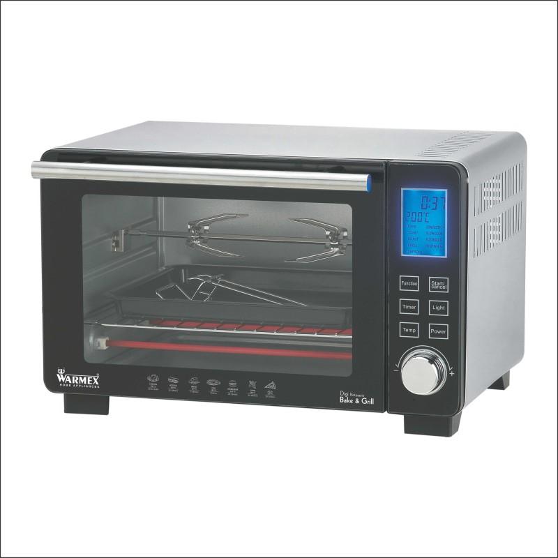 Warmex Oven Toaster Griller OTG-09 Digi (Black & Silver) 1500...