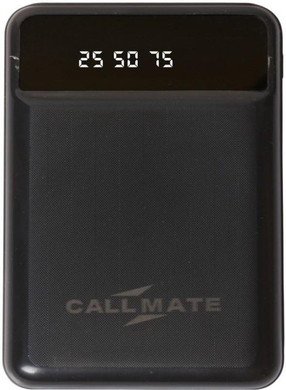 Callmate 10000 Power Bank (T25, Dual USB Port and Digital Display)(Black, Lithium-ion)