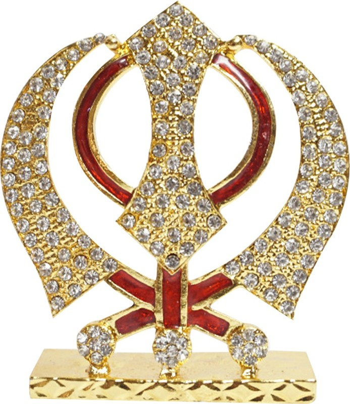 3D Eye Showpiece - 9 cm(Brass, Gold)