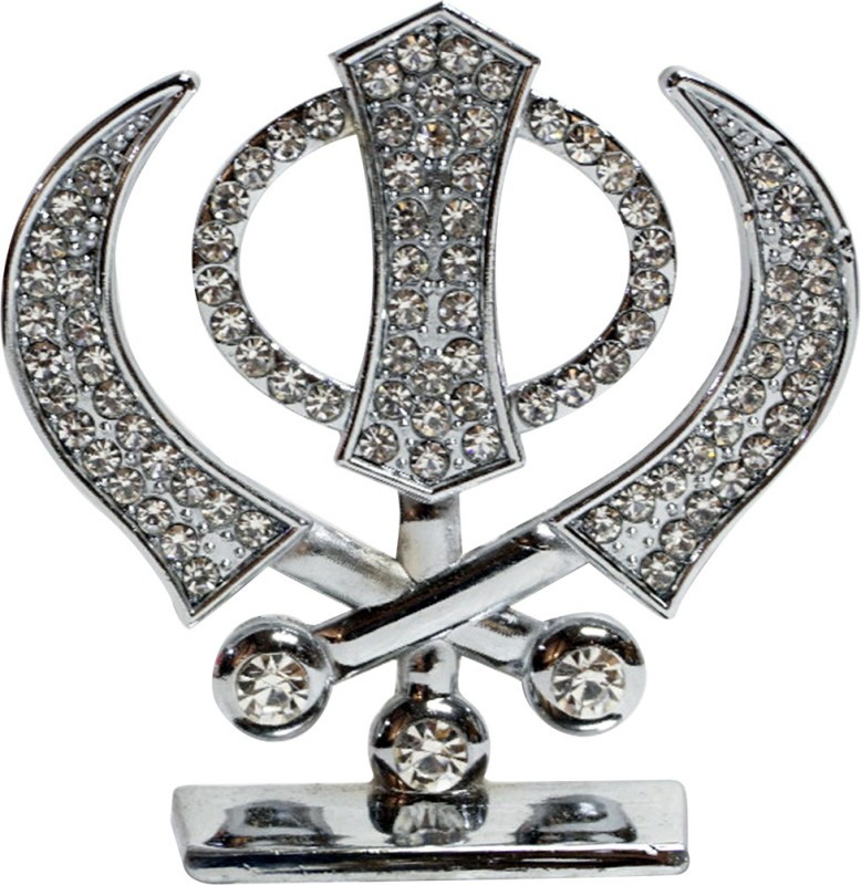 3D Eye Showpiece - 9 cm(Brass, Silver)