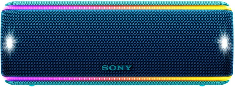 Sony SRS-XB31 Waterproof Bluetooth Speaker with Party Lights(Blue, Stereo Channel)
