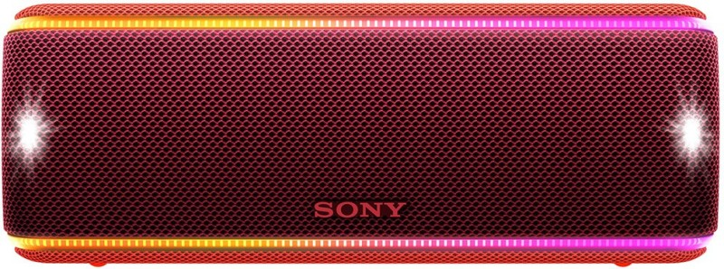 Sony SRS-XB31 Waterproof Bluetooth Speaker with Party Lights(Red, Stereo Channel)