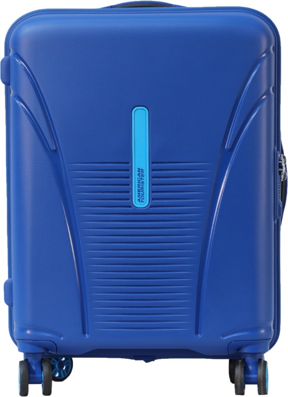 American Tourister Sky Tracer Hard Trolley 55 cm (Blue) Cabin Luggage - 22 inch(Blue)