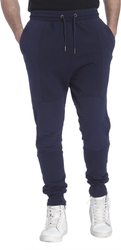Jack & Jones Solid Mens Dark Blue Track Pants