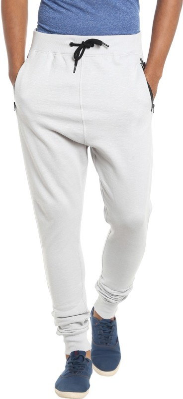 Jack & Jones Solid Mens White Track Pants