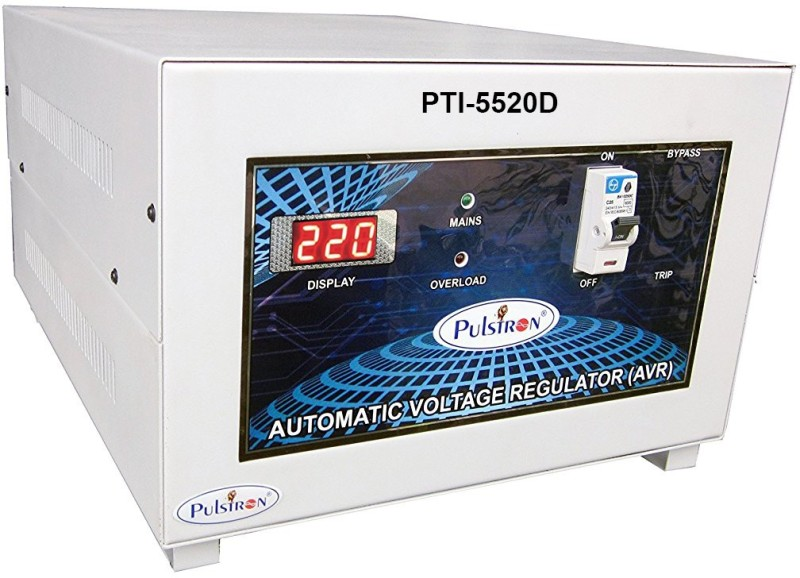 PULSTRON PTI-5520D 5 KVA (90V-520V) Double/Single Phase Automatic Voltage Stabilizer(Grey)