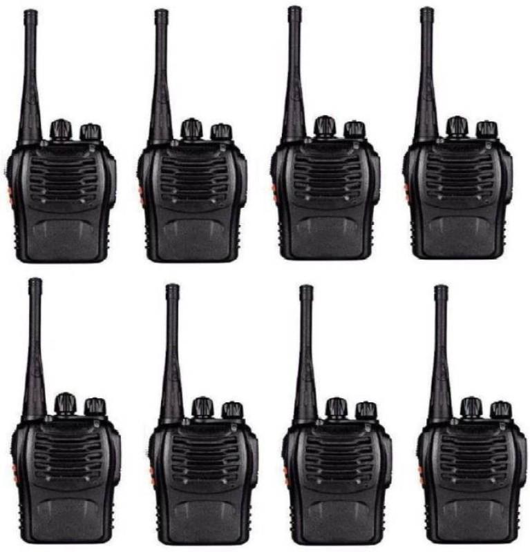 Mezire Baofeng Bf-888S 4 Walkie Talkie UHF 400-470MHz 16CH CTCSS/DCS Handheld Amateur Radio 2 Way Radio Long Range, Black 8 pcs Walkie Talkie(Black)