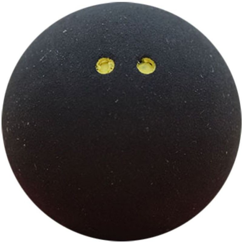 Head Prime Double Dot Squash Ball - Size: 3(Pack of 3, Black)