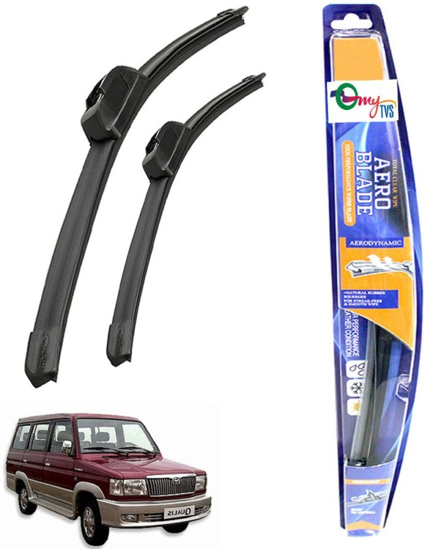 myTVS Windshield Wiper For Toyota Qualis(Passenger And Driver Side Wipers Pack of 2)