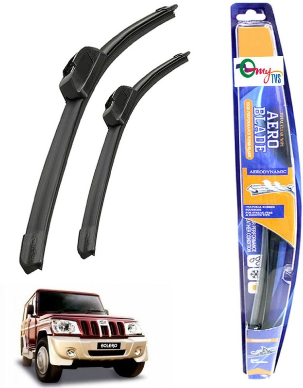 myTVS Windshield Wiper For Mahindra Bolero(Passenger And Driver Side Wipers Pack of 2)