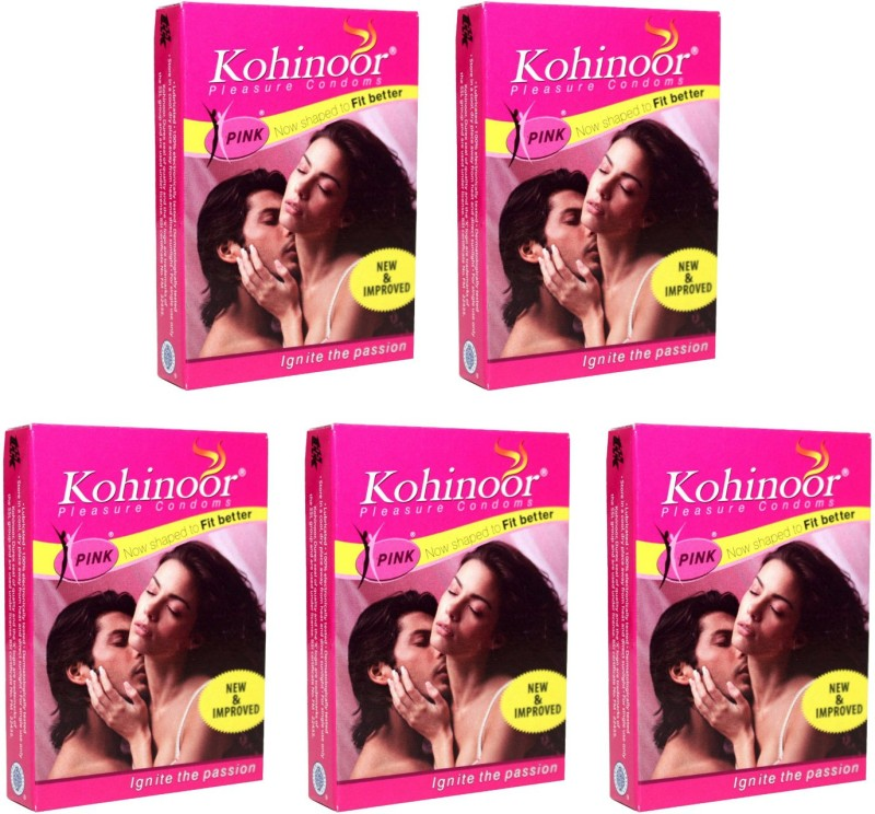 Kohinoor Pink Condom(Set of 5, 50S)